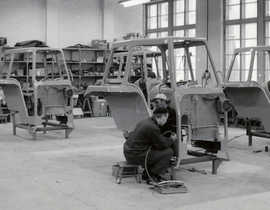 Manufacturing tractor safety cabs in 1966