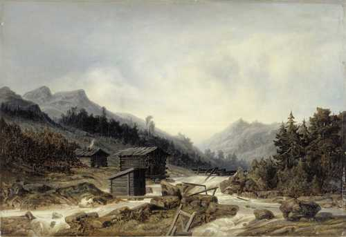Johan Knutson's painting of Rekolankoski from 1869. Finnish National Gallery, Central Art Archives. Photo by Janne Mäkinen.