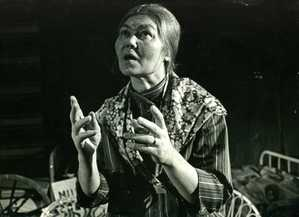 Irene Himanen as Opri. The Jämsänkoski amateur theatre put on the play in 1974. Picture: J J.
