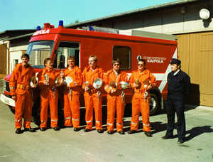 Factory firemen in the 1990s
