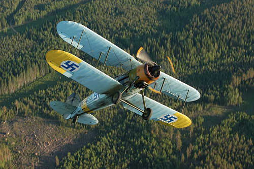 Gloster Gauntlet Mk. II GT-400 above forest district.